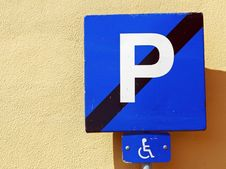 Handicap Parking Place Stock Photography