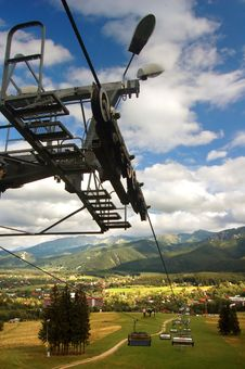 A Chair-lift Royalty Free Stock Image