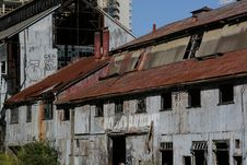 Free Rusted Out Ship Yard Building Royalty Free Stock Images - 1156599