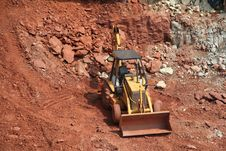 Free Bulldozer At Construction Site Stock Photography - 1156712
