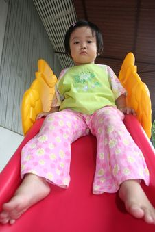 Free Gril On The Slide Royalty Free Stock Photo - 1158225