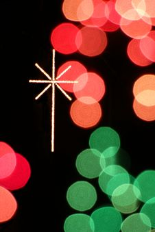 Free Christmas Lights Cross Royalty Free Stock Photos - 1158448