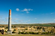Burra Mine Landscape Stock Photos