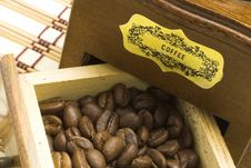 Free Coffee Grinder Drawer Filled With Coffee Beans Royalty Free Stock Photo - 1159335