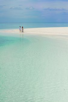 Free Two Person Walking On Beach Royalty Free Stock Photography - 115012967