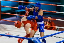 Free Two Fighters Doing Sparring Match Royalty Free Stock Photography - 115013027