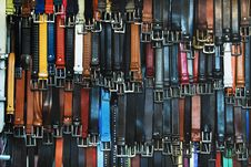 Free Shallow Focus Photography Of Assorted-color Leather Belts Stock Images - 115110954