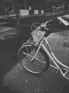 Free Grayscale Photo Of Bicycle Stock Images - 115111124