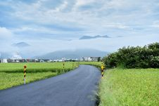 Free Road Surround By Green Grass Stock Images - 115111274