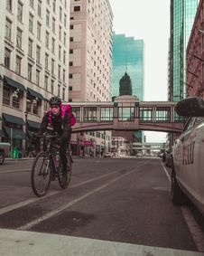 Free Photo Of Man Riding Bicycle On The Road Royalty Free Stock Photos - 115203008