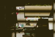Free Photo Of Workplace At The Dark Stock Images - 115203024