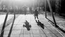Free Monochrome Photography Of Children On Swing Royalty Free Stock Photography - 115203137