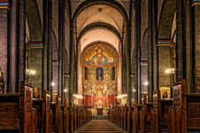 Free Place Of Worship, Cathedral, Chapel, Stained Glass Royalty Free Stock Photography - 115286547
