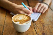 Free Coffee, Cappuccino, Latte, Flat White Stock Photos - 115286663