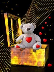 Free Teddy Bear, Lighting, Art, Illustration Stock Images - 115287734