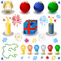 Free Christmas Icons Set Stock Image - 11536831