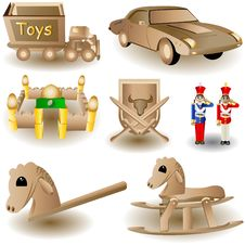 Free Toy Icons 2 Royalty Free Stock Image - 11536796