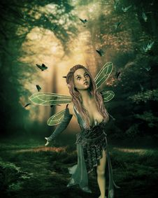 Free Nature, Green, Fairy, Lady Stock Photos - 115315683