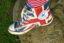 Free Footwear, Shoe, Flag Of The United States, Outdoor Shoe Stock Photography - 115315782