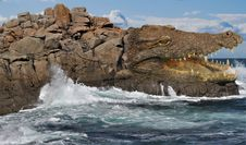 Free Rock, Coast, Sea, Coastal And Oceanic Landforms Stock Image - 115316401