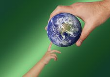 Free Water, Earth, Hand, Globe Stock Photography - 115316842