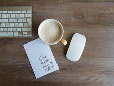 Free Apple Magic Mouse And White Ceramic Mug Royalty Free Stock Photography - 115423267