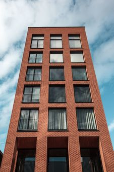 Free Red And Black Concrete High-rise Building Stock Image - 115423371