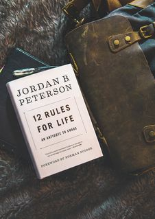 Free 12 Rules For Life By Jordan B. Peterson Book Brown Textile Royalty Free Stock Photo - 115423505