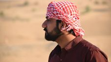Free Man In Red Turban Tilt Shift Lens Photography Royalty Free Stock Photos - 115423548