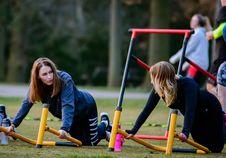 Free Two Woman Doing Exercise Routine Stock Photo - 115423640