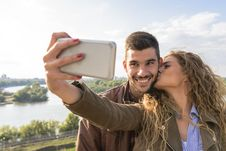 Free Couple Taking Picture Stock Images - 115423704