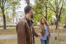 Free Man Holding Woman S Hand Near Trees Royalty Free Stock Photos - 115423718
