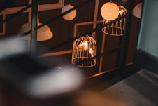 Free Two Birds Inside Birdcage Stock Images - 115423834