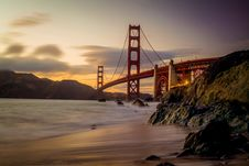 Free Photography Of Red Bridge Under White And Gray Sky Stock Images - 115483594