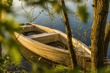 Free Brown Wooden Boat Near Tree Stock Photo - 115483670
