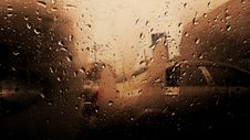 Free Vehicle Glass Window With Water Droplets Stock Photography - 115483692