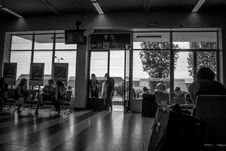 Free Group Of People Indoors Grayscale Shot Stock Image - 115483721
