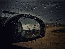 Free Car Window Panel With Water Droplets Stock Photos - 115483783