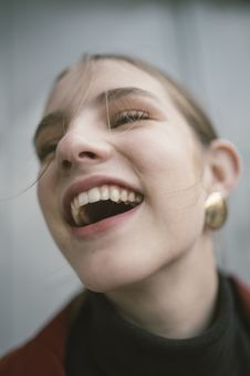 Free Close-Up Photography Of A Laughing Woman Stock Image - 115550231