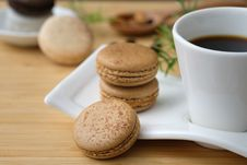 Free Three Cookies Beside Cup Of Coffee Stock Image - 115628201