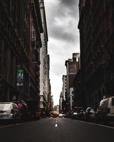 Free Photography Of Roadway In The Middle Of Buildings Royalty Free Stock Image - 115628246