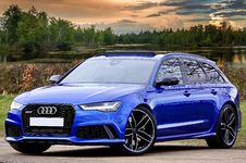 Free Photography Of Blue Wagon Audi Royalty Free Stock Images - 115628329