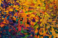 Free Colourful Abstract Painting Stock Image - 115628421