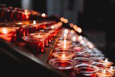 Free Tea Light Candle Lot Stock Photography - 115628452
