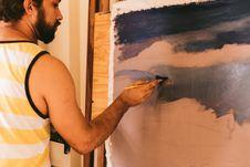 Free Man Painting Stock Image - 115693981