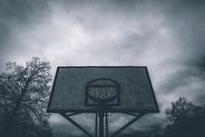 Free Silhouette Photo Of Basketball Hoop Royalty Free Stock Images - 115694259