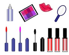 Free Cosmetic Icons Symbols Lips Royalty Free Stock Photography - 11574107