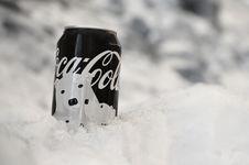 Free Coca-cola On Snow Stock Image - 115773671