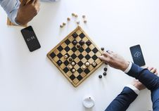 Free Flat Lay Photography Of Two Men Playing Chess Royalty Free Stock Images - 115773809