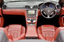 Free Maserati Leather Interior Royalty Free Stock Photography - 115844087